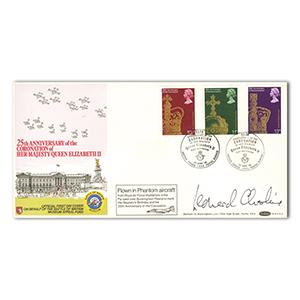 1978 Coronation (3 Stamps) - Signed Leonard Cheshire VC
