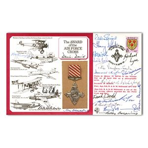 1984 Air Force Cross Award - Signed by Multiple AFC Holders