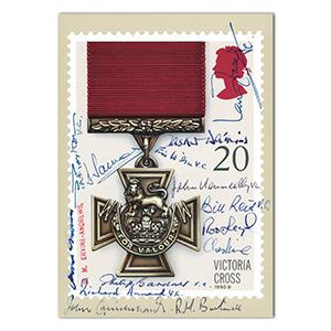 1990 Victoria Cross PHQ Card. Signed by 14 VC Holders.