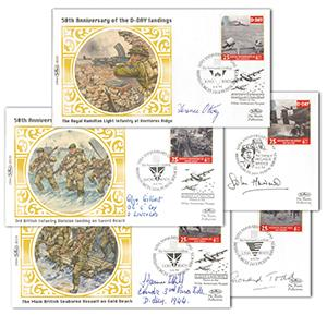 1994 D-Day 50th Anniversary - Set of 5 Signed Covers