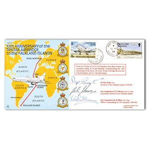 1995 Falklands Airbridge Special - Signed Sir Rex Hunt and 2 Others