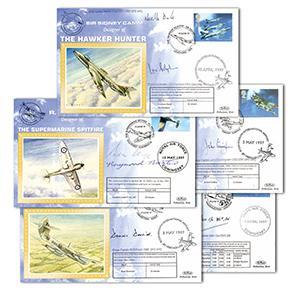 1997 Aircraft Benham Silk Set - Signed by WWII Veterans.