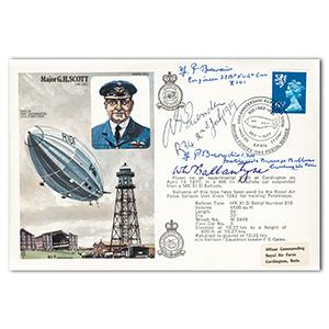 1977 R101 Airship - Signed by WWI Veteran Pilots