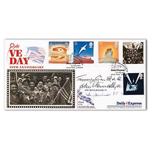 1995 VE Day - Signed by Gould, Jamieson and 1 Other