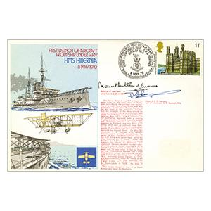 1978 Aircraft Launch From Ship - Signed by Admiral Mountbatten of Burma