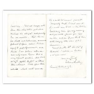 1903 Handwritten Letter. Signed Sir Redvers Buller V.C.