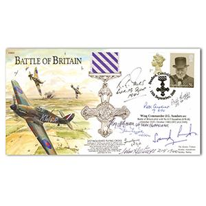 2000 Duxford BoB Flying Cross. Signed by 8 BoB Pilots and Crew.
