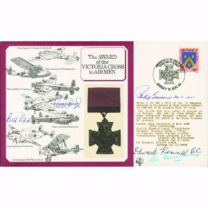 1984 VC to Airmen - Signed by VC Holders Learoyd, Reid, Kenna, Gardner & Bunn