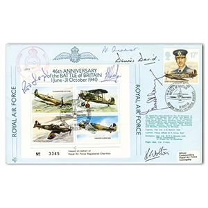 1986 46th Anniversary BoB - Signed by 6 BoB Pilots and VC Holder