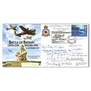 1997 57th Anniversary BoB Biggin Hill Open Day - Signed by 14 BoB Pilots and Crew