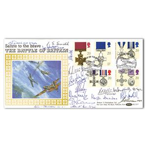 1990 Gallantry - Signed by 17 BoB Pilots, Crew VC and MM Holders