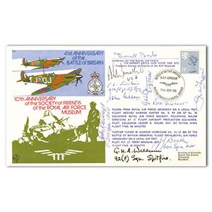 1981 41st Anniversary BoB - Signed Sir Dermot Boyle, 9 BoB Pilots & Crew