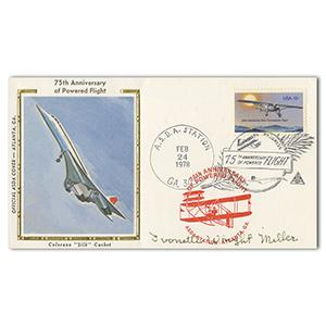 1978 75th Powered Flight (Concorde). Signed I.Wright-Miller.