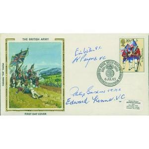 1983 British Army - Signed by 4 Victoria Cross Holders - Wilson, Payne, Kenna and Gardner
