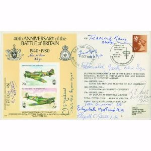 1980 BoB 40th - Signed by 10 Pilots, Crew & RAFF of BoB