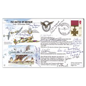 1990 Battle of Britain - Signed by 14 BoB Pilots and Crew