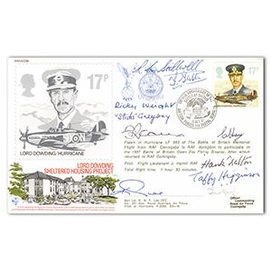 1987 BoB 47th - Signed by 9 Fighter WWII Pilots
