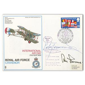 1969 RAF Chivenor - Signed by Peter Townsend and Adolf Galland