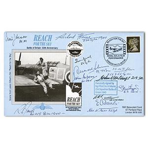 1990 BoB 50th. Signed E H Adams and 11 BoB Pilots and Crew.
