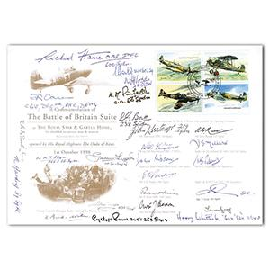 1998 Battle of Britain - Suite at Royal Star - Signed by 26 BoB Pilots & Crew