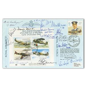 1986 Battle of Britain 46th Anniversary - Signed by 18 BoB Pilots