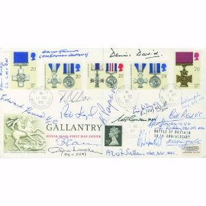 1990 Gallantry - Signed by 19 WWII Pilot & Crew Members