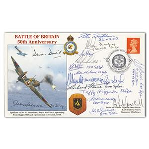 1990 Battle of Britain 50th Anniversary - Signed by 18 BoB Pilots/Crew WAAF