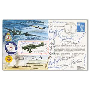 1990 RAF Battle of Britain 50th - Signed by 22 Pilots/Crew, WAAF & 3 VC Holders