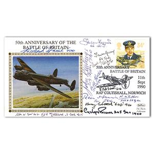 1990 Battle of Britain 50th - Signed by 13 WWII BoB Pilots and Crew Members