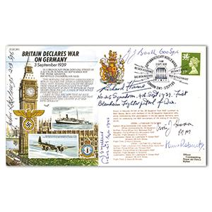 1989 Britain Declares War - Signed 6 BoB Pilots, Crew & WAAF