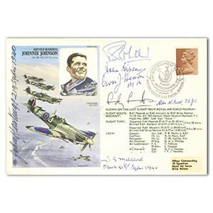 1977 Johnnie Johnson - Signed by 7 BoB Pilots