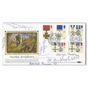 1990 Gallantry - Signed by 5 VC, 1 GC, 1 DSO, 1 MC and 1 MM