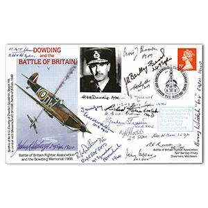 1988 Dowding Memorial - Signed by 17 BoB Pilots and Crew