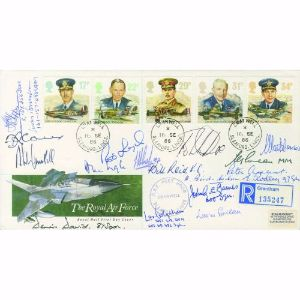 1986 RAF Cranwell. Signed by 18 involved in WWII.