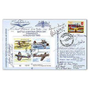 1993 Battle of Britain 53rd - Signed by 9 BoB Pilots & Crew & Luftwaffe Pilot
