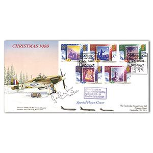 1988 Christmas-Hurricane. Signed by Wg Cdr G Page 56 Sqd BoB.
