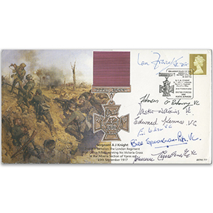 2002 Victoria Cross 150th - Signed by 7 VC Holders inc Beharry, Watkins, Fraser & Kenna