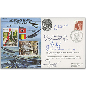 1990 Invasion of Belgium - Signed by 6 VC Holders