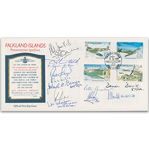 1990 Falklands - Signed by 9 Battle of Britain Veterans