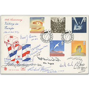 1995 VE Day 50th - Signed by 10 Battle of Britain Veterans