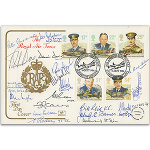 1986 RAF - Signed by 19 Veterans
