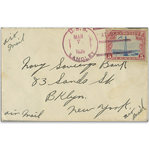 1929 U.S.S Landley - Signed by Brogan McCampbell
