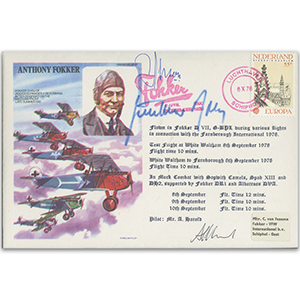 Anthony Fokker - Signed Gunther Rall