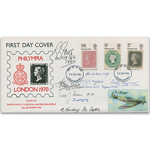 1970 Ballykelly Philympia FDC - Signed by 8