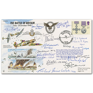 50th Anniv. Sign 15 Battle of Britain Fighter Pilots