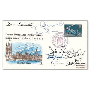 1975 Inter Parliamentary Union Conference. Signed J Archer and 7 others