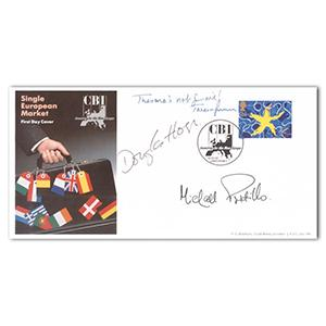 1992 Single Euro Market - Signed by Gorman, Hogg and Portillo
