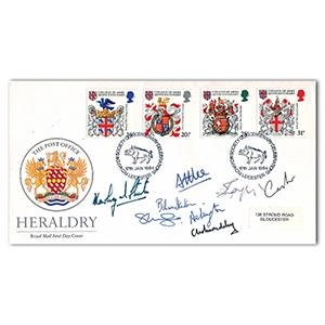 1984 Heraldry - Signed Earl Attlee, Lord Longford and 6 Others