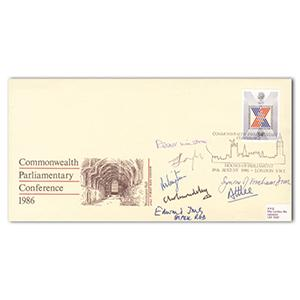 1986 Commonwealth Parliamentry Conference - Signed by Lord Longford and 6 Others
