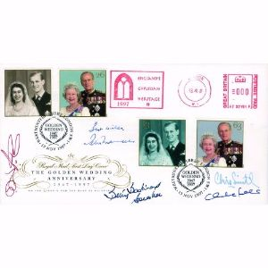 1997 Queen Golden Wedding Anniversary - Signed by Betty Boothroyd and 4 Others